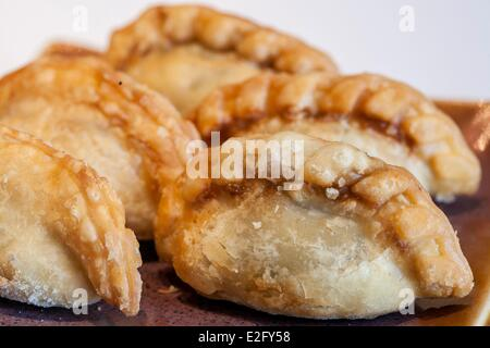 Argentina Buenos Aires empanadas (small filled slippers meat) - Stock Photo