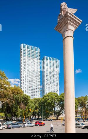 Argentina Buenos Aires Puerto Madero San Marco column erected in 2001 following the donation of the city of Venice - Stock Photo