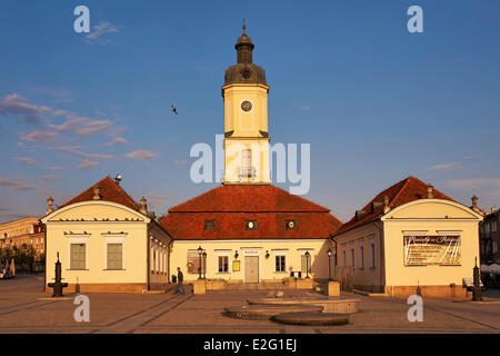 Poland Podlaskie Bialystok Kosciuszko Square Town Hall - Stock Photo