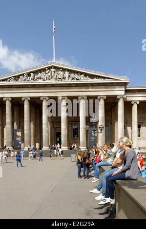United Kingdom London Bloomsbury British Museum - Stock Photo