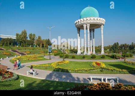 Uzbekistan Silk Road Tashkent Chahidlar Maydoni place (in memory to uzbek people killed by the russian army) - Stock Photo