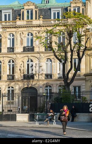 France Paris place Saint-Georges the Gothic and Renaissance style Hotel de la Marquise de Paiva adorned with cherubs - Stock Photo