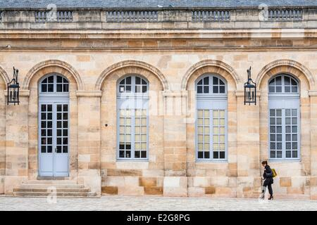 France Gironde Bordeaux town hall installed since 1835 in the Palais Rohan (18th century) Louis XVI style courtyard - Stock Photo