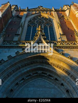 France Haute Garonne Toulouse Saint Etienne Cathedral view of the side facade of the cathedral - Stock Photo