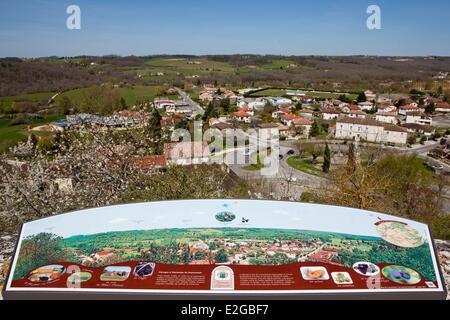 France Lot et Garonne Tournon d'Agenais view from the ramparts - Stock Photo