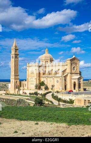 Malta Gozo island Gharb Ta'Pinu basilica - Stock Photo