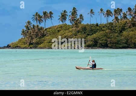 Cook Islands Rarotonga Island Muri lagoon - Stock Photo