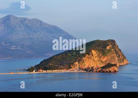Montenegro Adriatic coast bay of Budva - Stock Photo