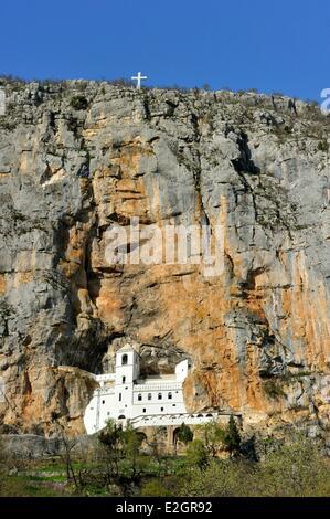 Montenegro central region Ostrog's monastery XVIIth century - Stock Photo