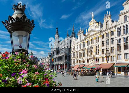 Belgium Brussels Grand Place listed as World Heritage by UNESCO - Stock Photo