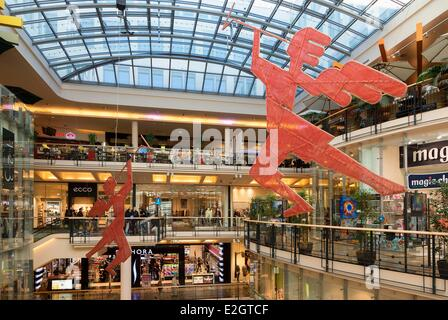 Czech Republic Prague historical centre listed as World Heritage by UNESCO Palladium Shopping Centre - Stock Photo