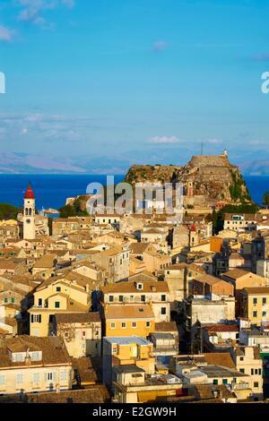 Greece Ionian island Corfu island Kerkyra city listed as World Heritage by UNESCO Agios Spyridon church - Stock Photo