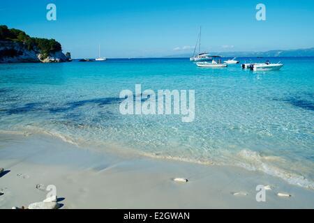 Greece Ionian island Antipaxi Antipaxos Voutoumi beach - Stock Photo