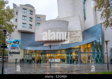France Paris French Cinematheque (former American Center) by architect Frank O. Gehry in Parc de Bercy - Stock Photo