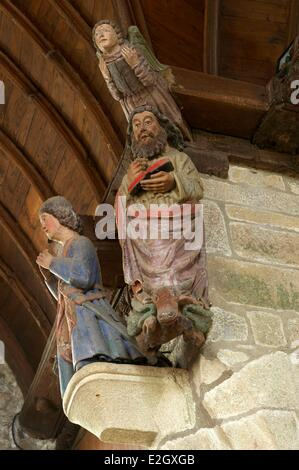 France Cotes d'Armor Loc Envel inside church - Stock Photo