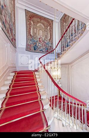 France Paris Hotel de Toulouse 17th century Mansion Banque de France headquarters central bank of France a staircase