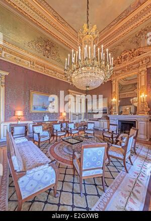 France Paris Quai d'Orsay hotel of Foreign Ministry empire room - Stock Photo