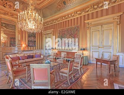 France Paris Quai d'Orsay hotel of Foreign Ministry billiard room - Stock Photo