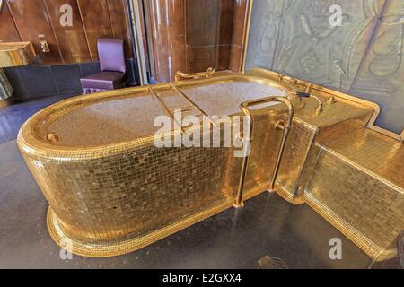 France Paris Quai d'Orsay hotel of Foreign Ministry King's bathroom - Stock Photo