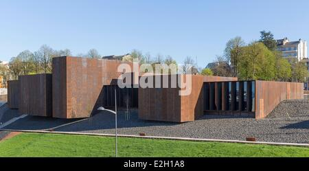 France Aveyron Rodez Soulages Museum designed by Catalan architects RCR associated with Passelac & Roques