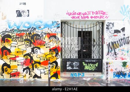 France paris Serge Gainsbourg 's house on Verneuil street - Stock Photo