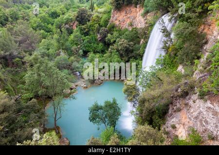 France Var Parc Naturel Regional du Verdon (Natural Regional Park of Verdon) Sillans la Cascade river of Bresque - Stock Photo