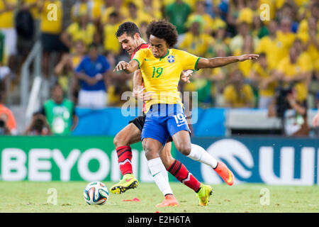 Willian (BRA), JUNE 17, 2014 - Football / Soccer : FIFA World Cup Brazil 2014 Group A match between Brazil 0-0 Mexico - Stock Photo