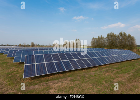 Photovoltaic Solar Power Station Stock Photo Royalty Free
