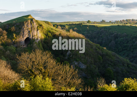 Thor's Cave, Manifold Valley, Peak District National Park, Staffordshire - Stock Photo