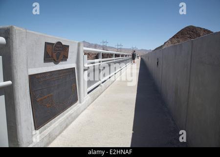 Mike O'Callaghan – Pat Tillman Memorial Bridge over the Hoover dam, Nevada, Arizona USA. - Stock Photo