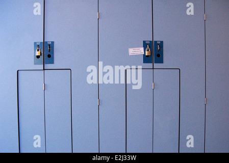 Lockers, close-up - Stock Photo