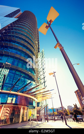 'El Corte Inglés' Titania Tower shopping center. AZCA district. Madrid. Spain - Stock Photo