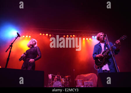 Portsmouth, Virginia, USA. 19th June, 2014. 96X FEST brings alternative rockers GROUPLOVE to the Ntelos Pavilion. - Stock Photo