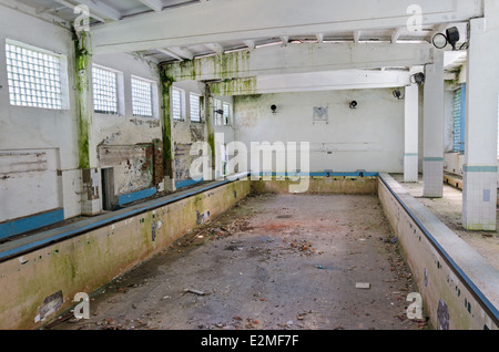 Empty Abandoned Swimming Pool At Old Motel On The Strip Las Vegas Stock Photo Royalty Free
