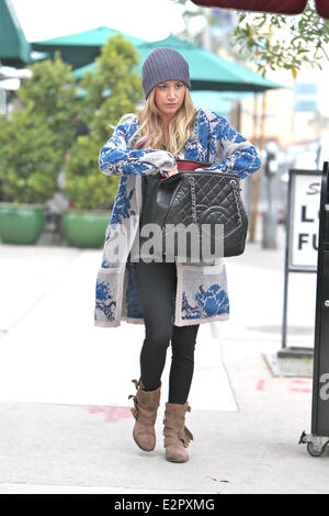 5b986c578681 ... Ashley Tisdale is seen leaving Urth Cafe on Melrose after having lunch  with a friend.
