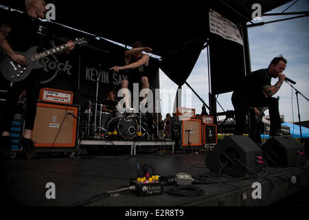 Pomona, CA, USA. 20th June, 2014. Dangerkids perform at the Vans Warped Tour. Thousands of young alternative music - Stock Photo