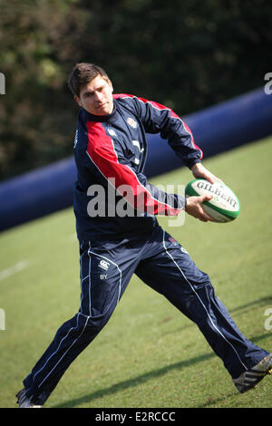 The England Rugby Team Training At Penny Hill Park Hotel