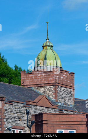 Copper cupola. Summerhill Nursing & Residential Home. Eastview, Kendal, Cumbria, England, United Kingdom, Europe. - Stock Photo