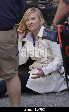 Actors seen on the set of 'Law and Order: SVU' in lower Manhattan  Featuring: Kelli Giddish Where: New York City, - Stock Photo