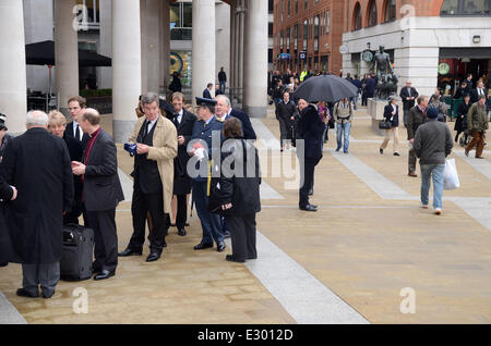 Politician and dignities attended The Ceremonial Funeral Of Former British Prime Minister Baroness Thatcher Born - Stock Photo