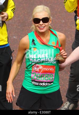 The 2013 Virgin London Marathon  Featuring: Katherine Jenkins Where: London, United Kingdom When: 21 Apr 2013 - Stock Photo