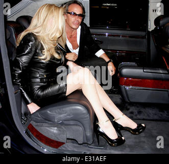 Jocelyn Wildenstein and Lloyd Klein at Boa Steakhouse in West Hollywood  Featuring: Jocelyn Wildenstein Where: Los - Stock Photo