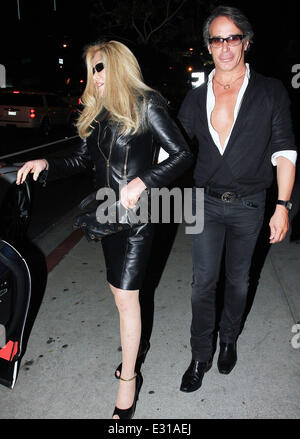 Jocelyn Wildenstein and Lloyd Klein at Boa Steakhouse in West Hollywood  Featuring: Jocelyn Wildenstein and Lloyd - Stock Photo