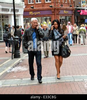 Stock Images: **Mystery woman spotted having Dublin lunch with Ian Rush in May 2012 identified as Cork Singer Carol - Stock Photo
