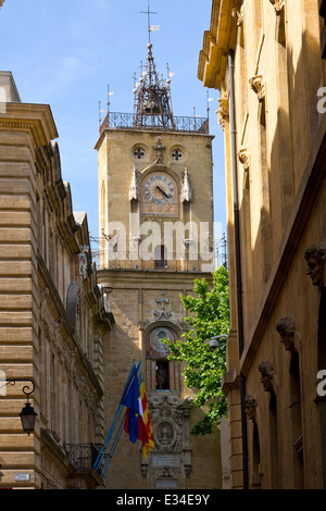 Bell Tower of a Church in Aix-en-Provence, France - Stock Photo
