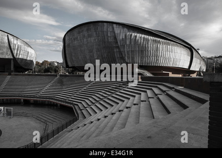Auditorium in Rome by Italian architect Renzo Piano Stock Photo