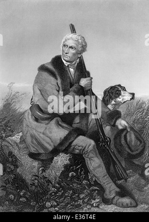 portrait of Daniel Boone, 1734 - 1820, an American pioneer and hunter, - Stock Photo