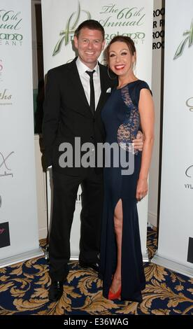 Miss Tipperary, Aoife Walsh wins Miss Ireland 2013 Finals at Ballsbridge Hotel  Featuring: Robbie Kane,Etain Boyd - Stock Photo