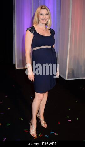 Miss Tipperary, Aoife Walsh wins Miss Ireland 2013 Finals at Ballsbridge Hotel  Featuring: Pamela Flood Where: Dublin, - Stock Photo