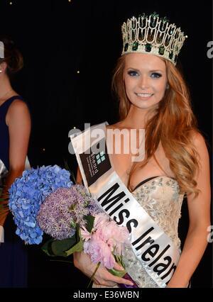Miss Tipperary, Aoife Walsh wins Miss Ireland 2013 Finals at Ballsbridge Hotel  Featuring: Miss Ireland 2013,Aoife - Stock Photo